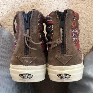 759f1140a5 Vans Shoes - Vans SK8 Hi Zip CA Paisley Olive Skate Shoes M Sz7